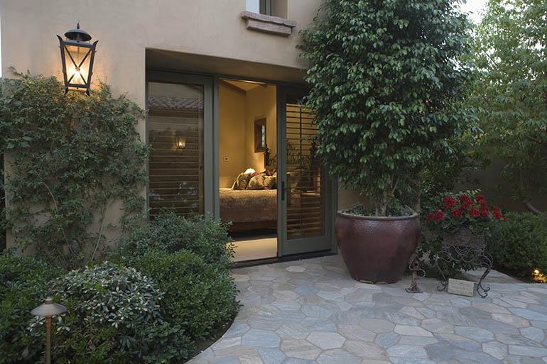 bedroom door to backyard
