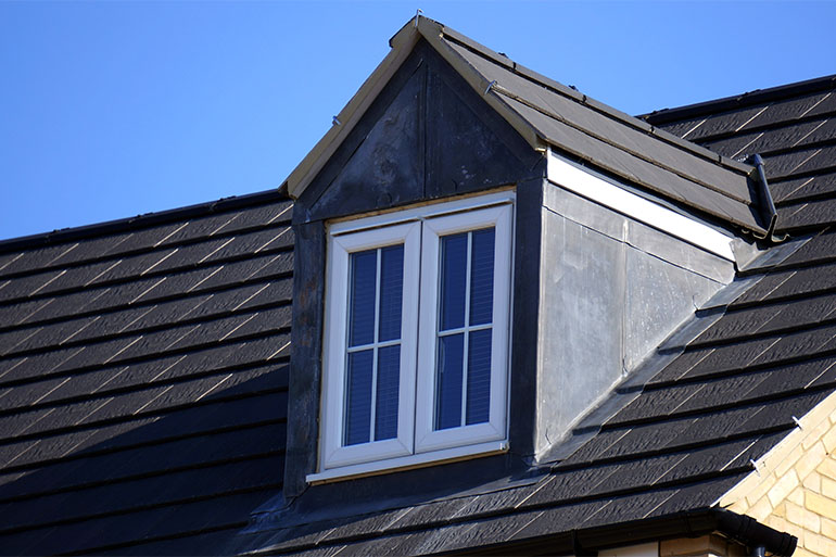black house roof