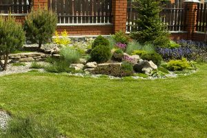 Creating a decorative dry river bed using aggregates