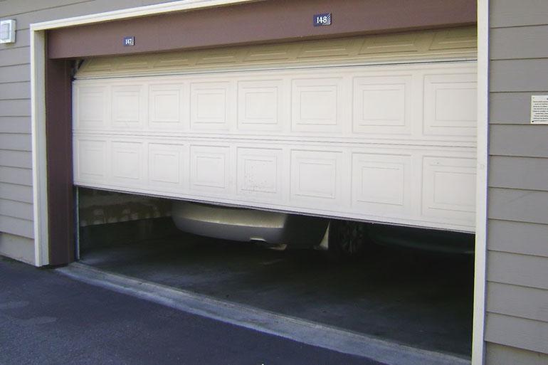 garage door sliding up