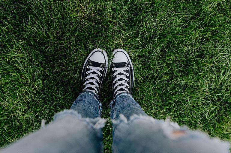 garden grass sneakers