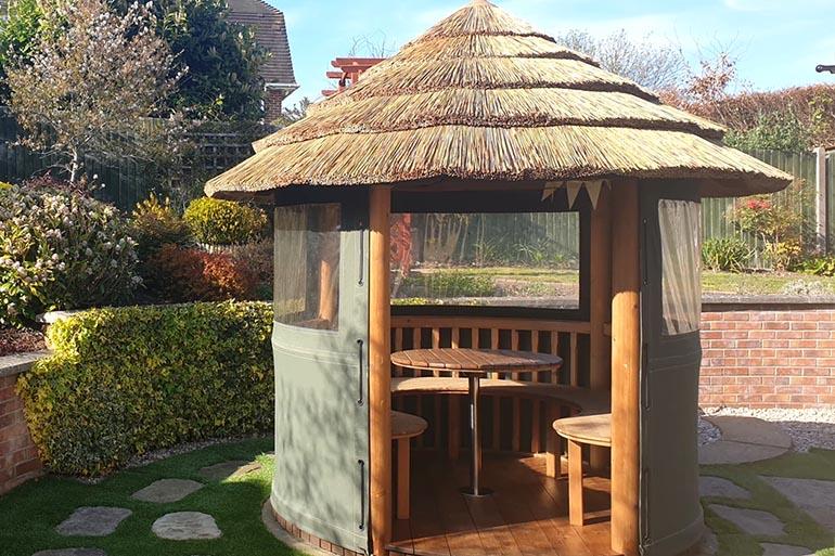 garden wooden gazebo