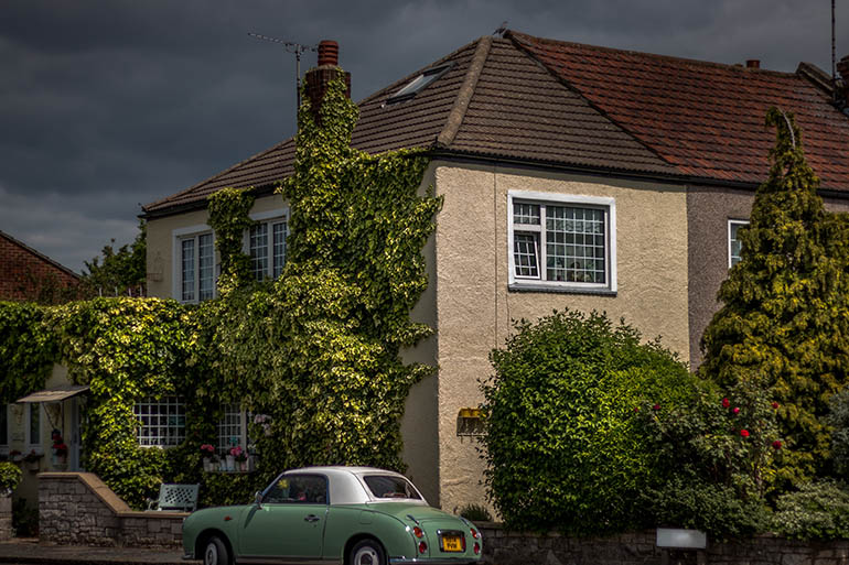 house in a British town