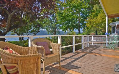 Why is decking considered to be an alternative to terraces and patios?