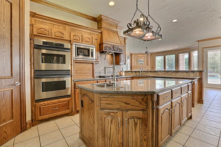 wooden kitchen cabinets island