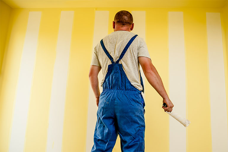 yellow wall painter